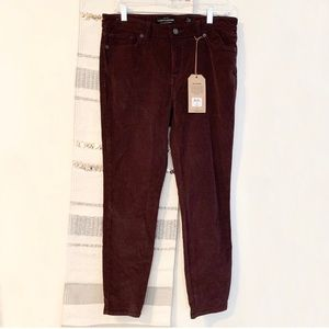 LUCKY BRAND NWT Ava Skinny Corduroy Mid Rise Jeans